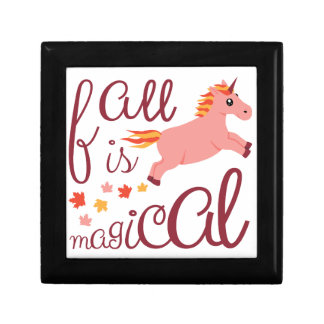 Fall Is Magical  Maroon Blush Color Unicorn Gift Box