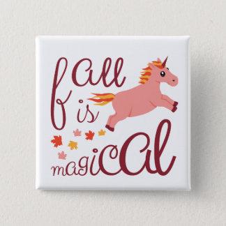 Fall Is Magical Peach Pink Unicorn Pin
