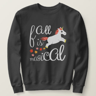 Fall Is Magical Unicorn Charcoal Sweatshirt