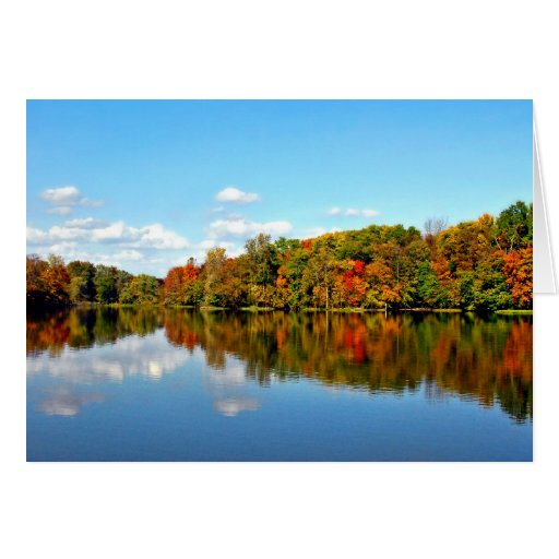 Fall Landscape Autumn Colors Card
