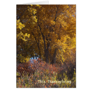 Fall Landscape Business Thank You Card