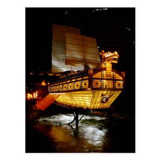 Fall Lantern Festival Ship Postcard