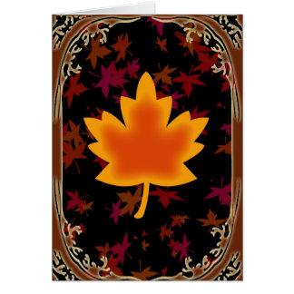 Fall Leaf Blank Card