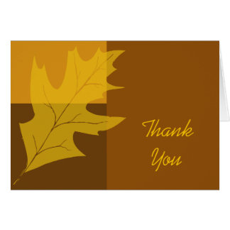 Fall Leaf Color Block Thank You Card