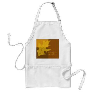 Fall Leaf Color Block Wedding Standard Apron