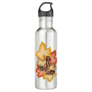 Fall Leaf Fae Triplets 710 Ml Water Bottle