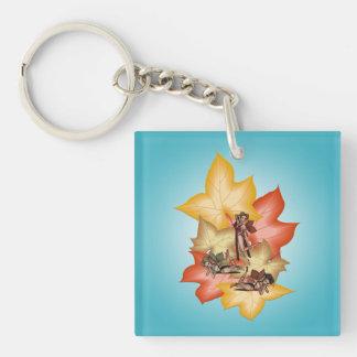 Fall Leaf Fae Triplets Keychain