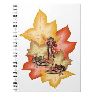 Fall Leaf Fae Triplets Notebook