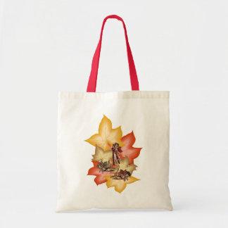 Fall Leaf Fae Triplets Tote Bag