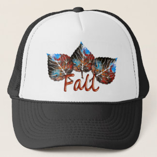 Fall Leaf Image Trucker Hat