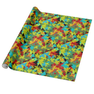 Fall Leaf Linen Wrapping Paper