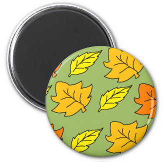 Fall Leaves 2 Inch Round Magnet