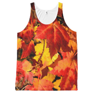 Fall Leaves All-Over-Print Tank Top