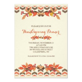 Fall Leaves and Acorns Invitation