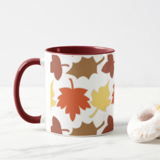 Fall Leaves Autumn Leaf Pile Oak Brown Maple Tree Mug