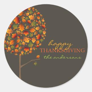 Fall Leaves Autumn Pop Tree Thanksgiving Sticker