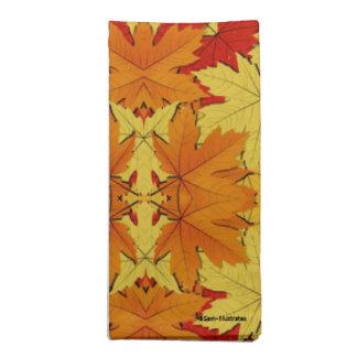 Fall Leaves Autumn Themed Cloth Napkins