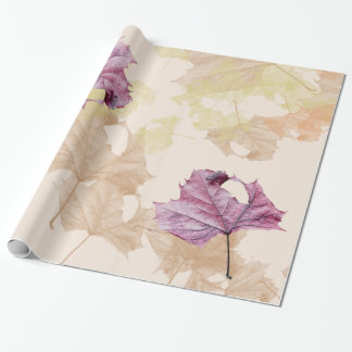"""""""fall leaves"""" Autumn WRAPPING PAPER"""