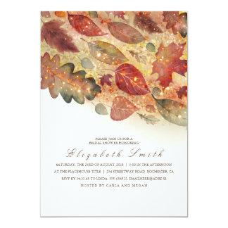 Fall Leaves Bridal Shower Card