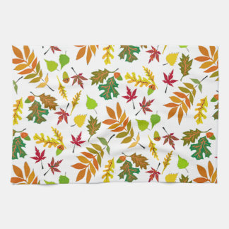 Fall Leaves Dishtowel Kitchen Towel