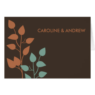 Fall Leaves Double Boughs Thank You Cards