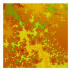 Fall Leaves Fractal. Abstract Art. Poster