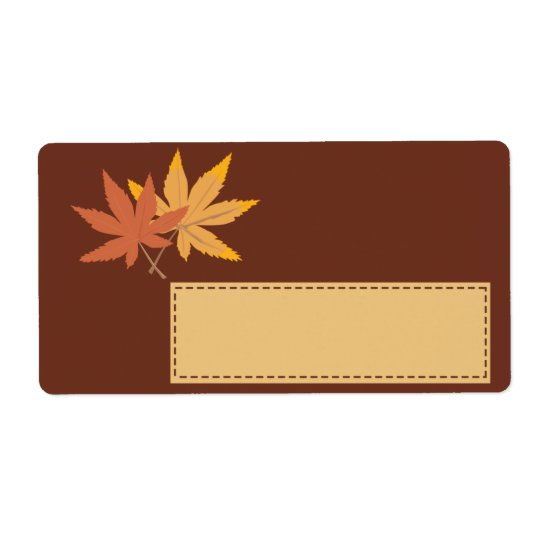 Fall Leaves Gift Tag