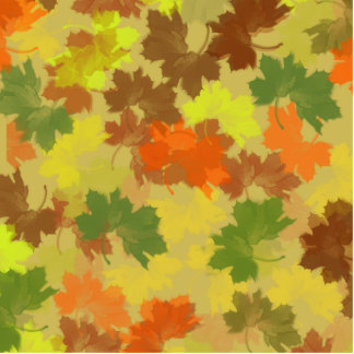 Fall Leaves - Golden Background Photo Cut Outs