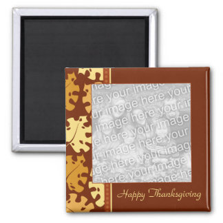 Fall Leaves Happy Thankgiving Photo Magnet