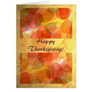 Fall Leaves Happy Thanksgiving Card