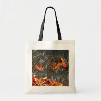 Fall Leaves in Waterfall I Autumn Photography Tote Bag