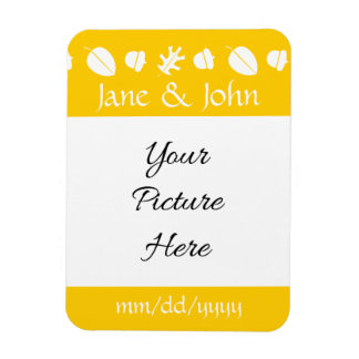 Fall Leaves in Yellow Save-the-Date Magnet