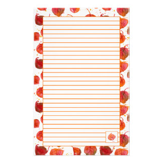 Fall Leaves Letter Writing Russet Lined Stationery