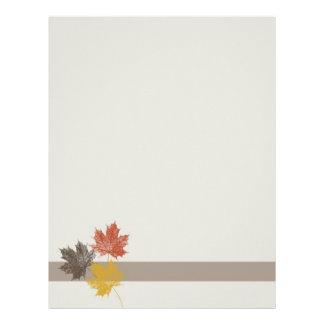 Fall Leaves Letterhead