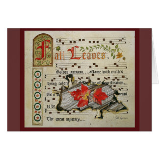 Fall Leaves Manuscript Card