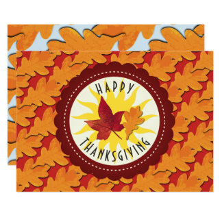 Fall Leaves Maple Thanksgiving Card