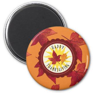 Fall Leaves Maple Thanksgiving Magnet