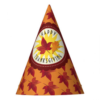 Fall Leaves Maple Thanksgiving Party Hat