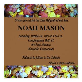Fall Leaves Mitzvah Invitation