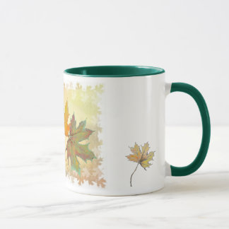 Fall leaves mug