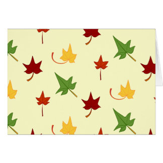 Fall Leaves: Multicolored Leaves, Note Card