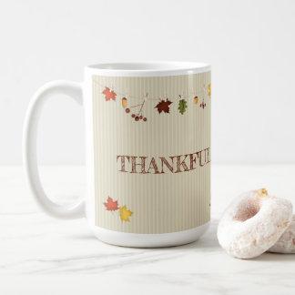 Fall Leaves on Clothesline Coffee Mug