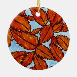 Fall leaves ornament