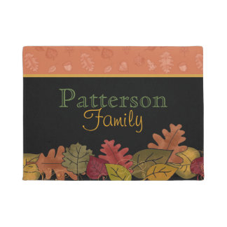 Fall Leaves Personalized Door Mat