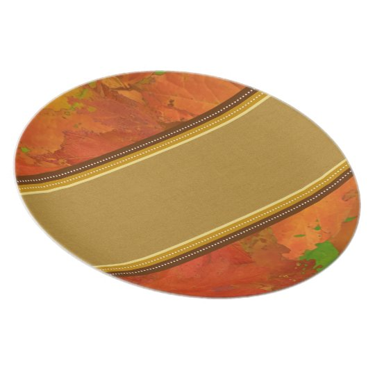 Fall Leaves Plate