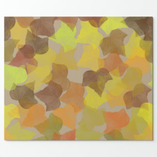 Fall Leaves Print Wrapping Paper