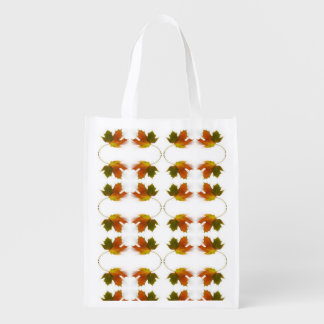 Fall Leaves Reusable Grocery Bag