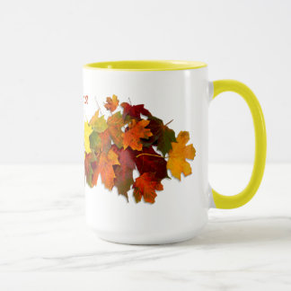 Fall Leaves ~  Ringer Mug