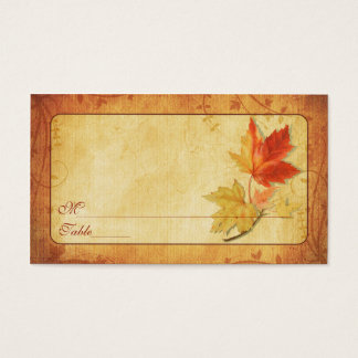 Fall Leaves Special Occasion Place Cards
