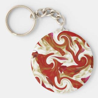 Fall Leaves Swirl Design Keychain